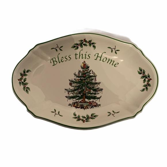 Spode Christmas tree tray/small platter NEW